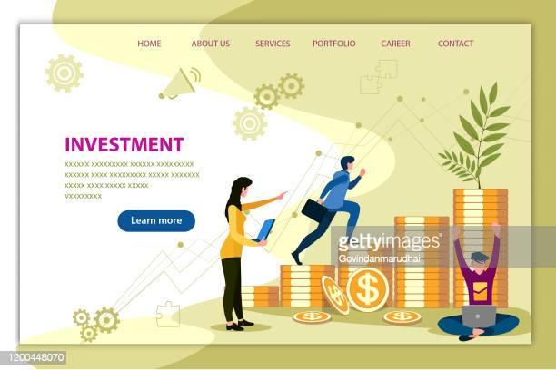 ilustraciones, imágenes clip art, dibujos animados e iconos de stock de inversión - impuestosobrelarenta