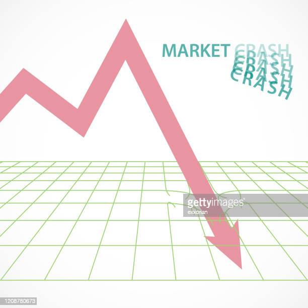 investment world market crash - börsencrash stock-grafiken, -clipart, -cartoons und -symbole