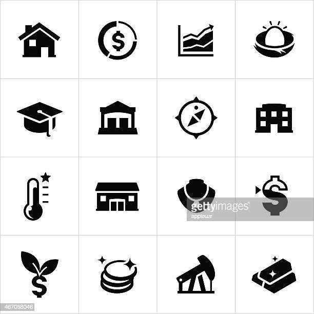 Investments and Retirement Icons