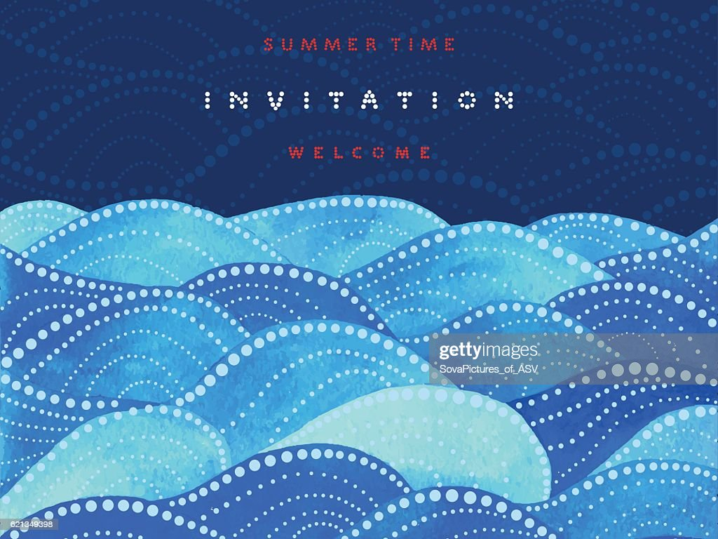 Invitation and welcome card