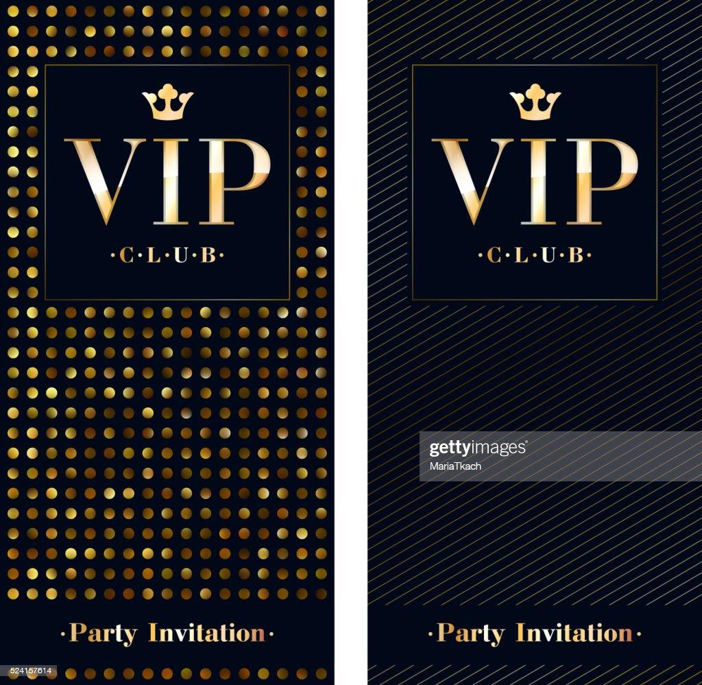 VIP invitation card premium design template