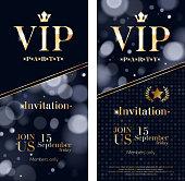 VIP invitation card premium design templates set