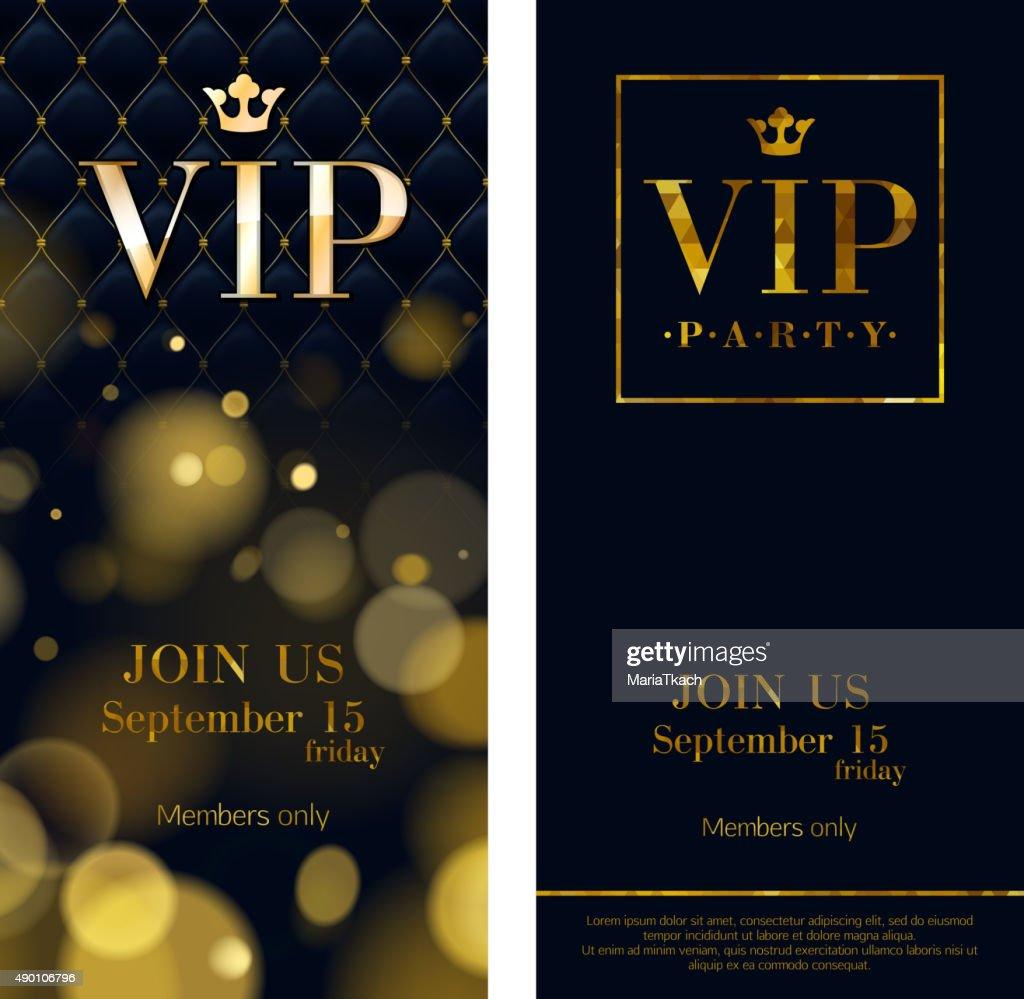VIP invitation cards premium design templates