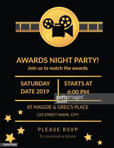 映画のための招待賞の夜のパーティー - 映画のポスター点のイラスト素材/クリップアート素材/マンガ素材/アイコン素材