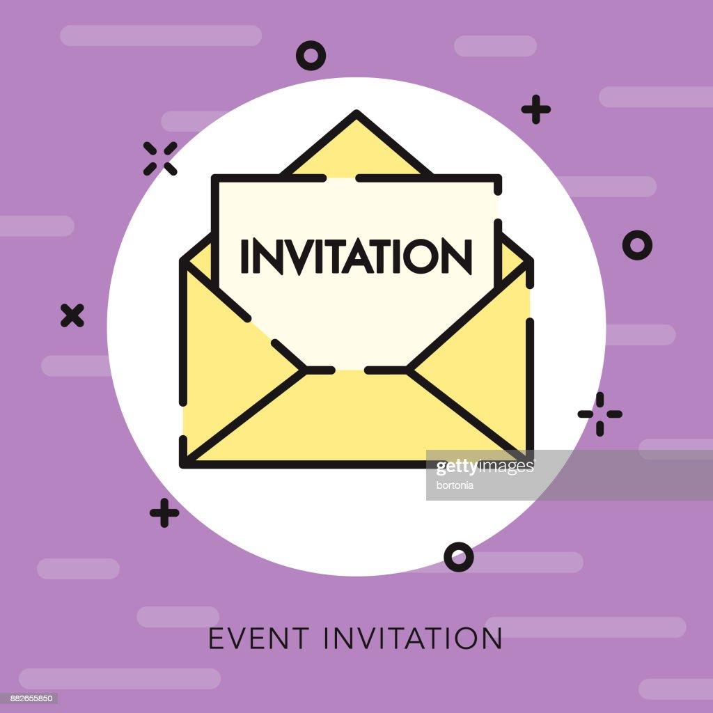 Invitation open outline celebrations parties icon vector art getty invitation open outline celebrations parties icon vector art stopboris Gallery