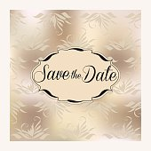 invitation or announcement card, save the date
