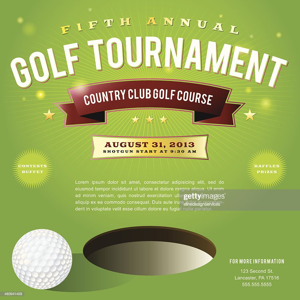Invitation pamphlet for a country club golf tournament