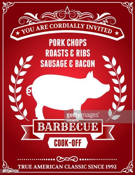 Invitation poster for a pork BBQ