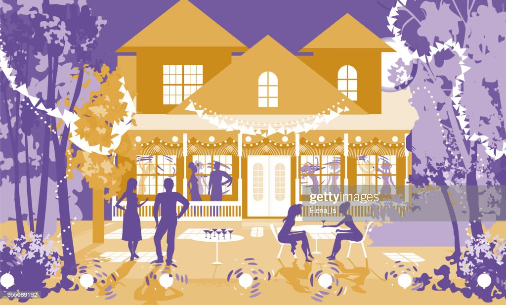 Invitation to a party at home with friends : stock illustration