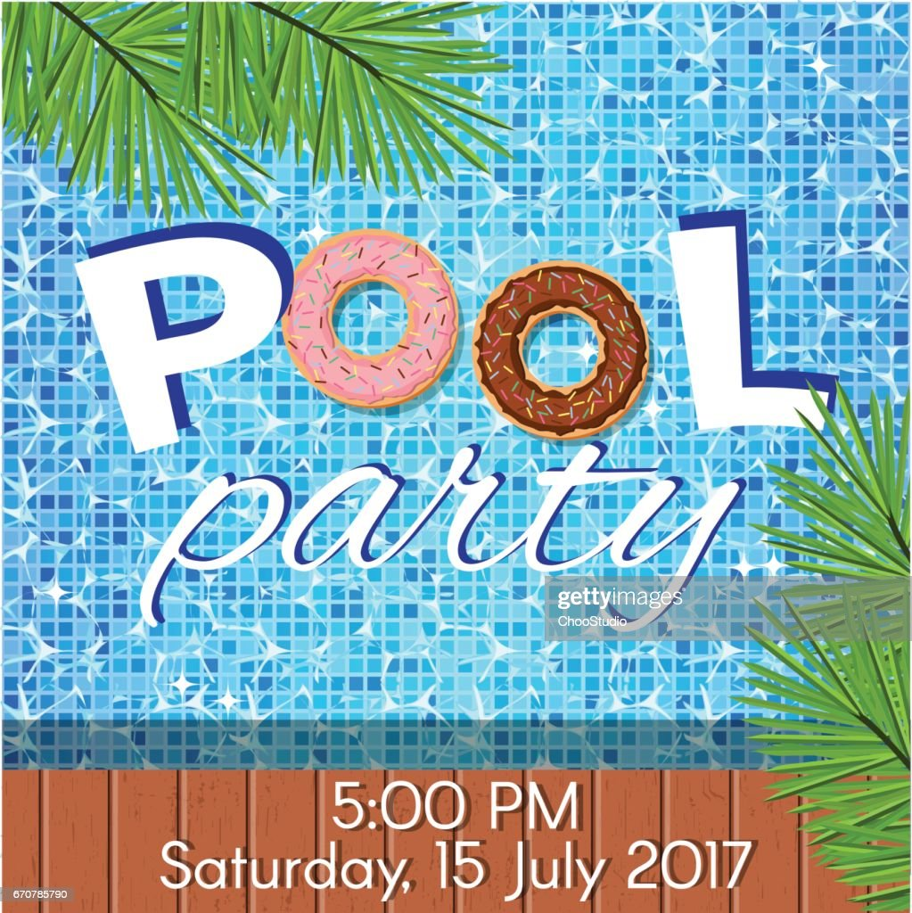Invitation to pool party.