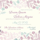 Invitation wedding card