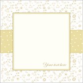 invitation with flowers and white background