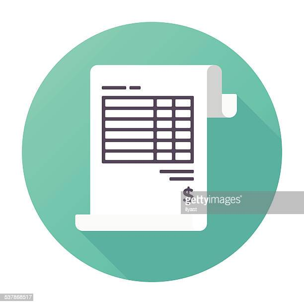 invoice icon - financial bill stock illustrations