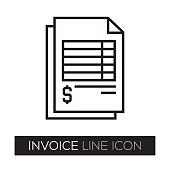 Invoice Line Icon