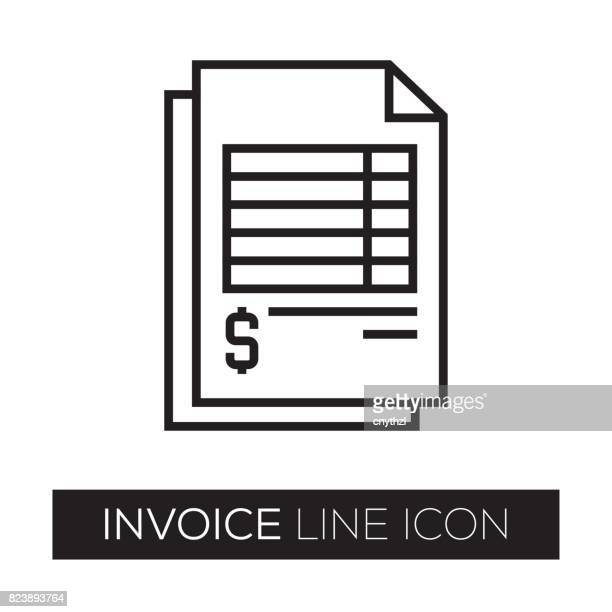 invoice line icon - check stock illustrations, clip art, cartoons, & icons