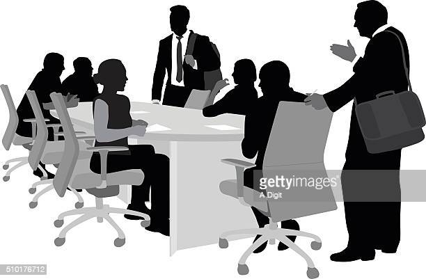 Involved Business Men And Women