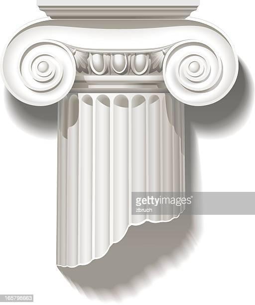 ionic capital - classical greek stock illustrations, clip art, cartoons, & icons