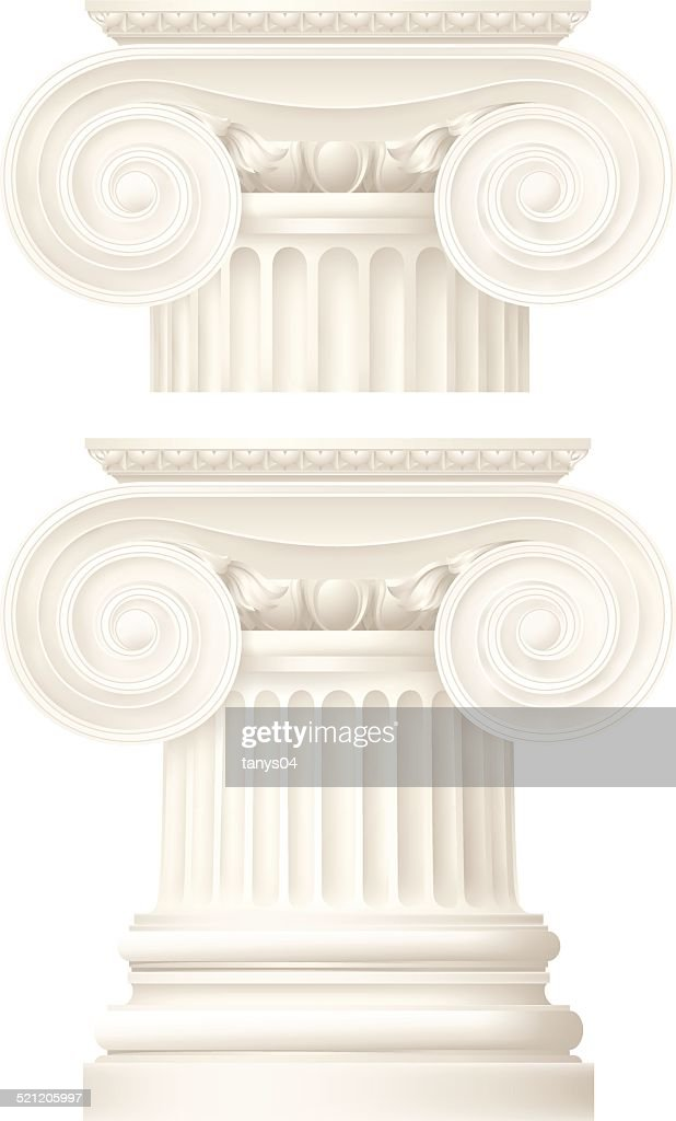 ionic column, architectural elements