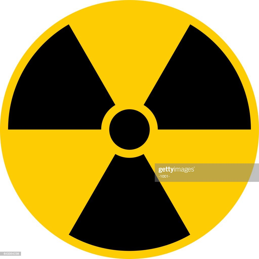 Ionizing Radiation Symbol Attention Danger Warning Sign