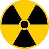 Ionizing Radiation Symbol Attention Danger Warning Sign