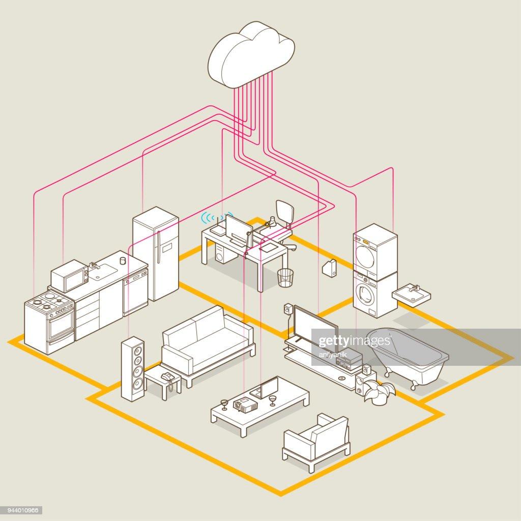 Iot : stock illustration