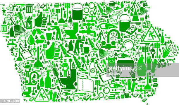 iowa cleaning and chores vector icon pattern - paper towel stock illustrations, clip art, cartoons, & icons