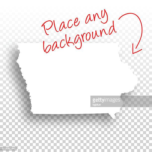 Iowa Map for design - Blank Background