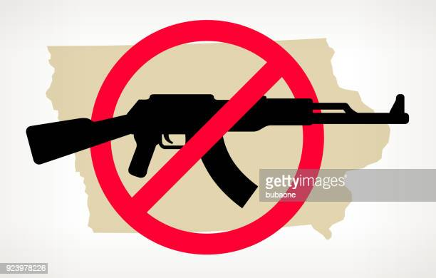 Iowa No Gun Violence Vector Poster