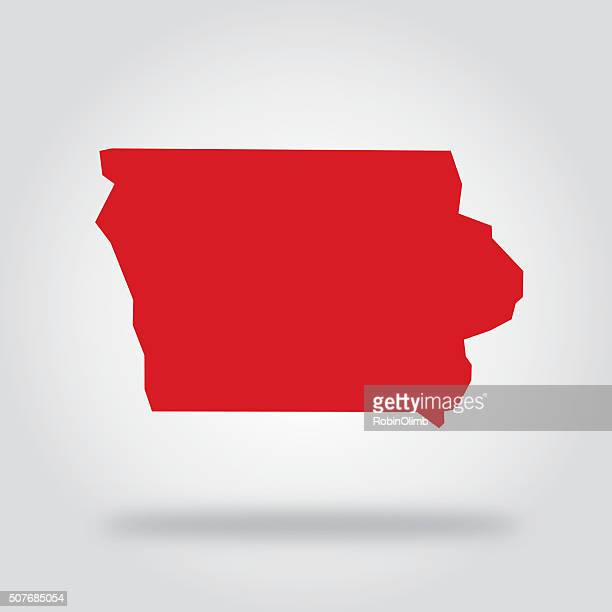 Iowa Red State Icon