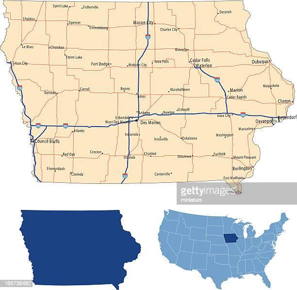 Iowa road map