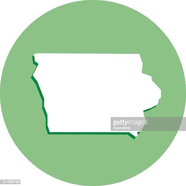 Iowa Round Map Icon