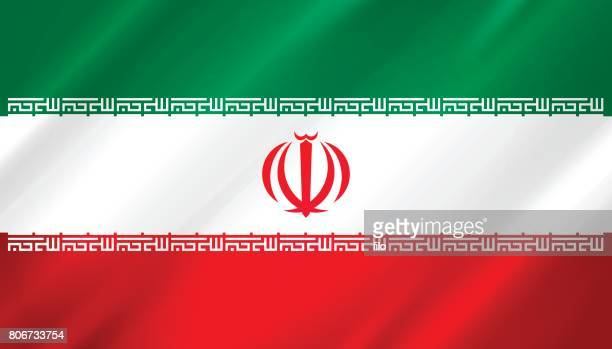 iran-flagge - iran stock-grafiken, -clipart, -cartoons und -symbole