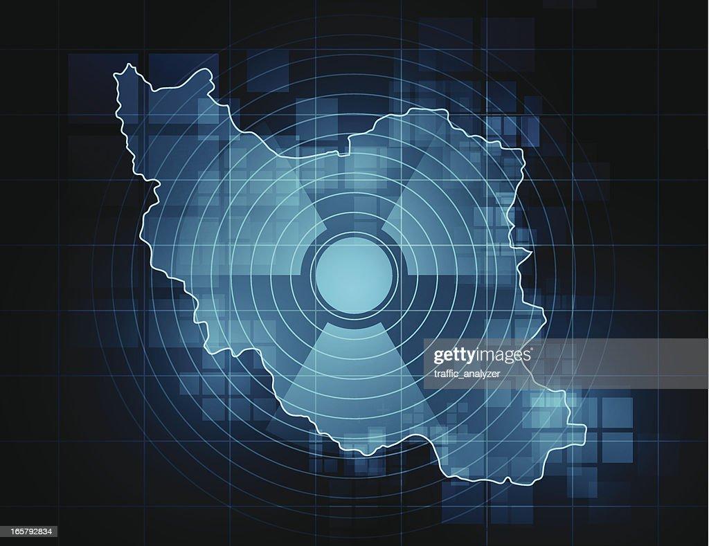 Iran map - nuclear threat