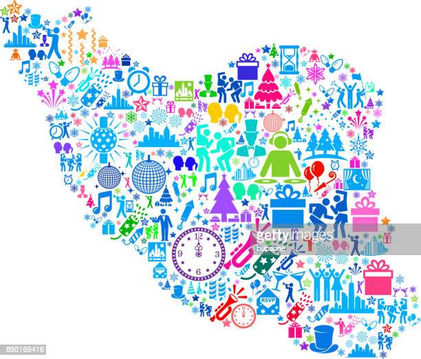 iran neujahr 2018 feier vektormuster symbol - iran stock-grafiken, -clipart, -cartoons und -symbole