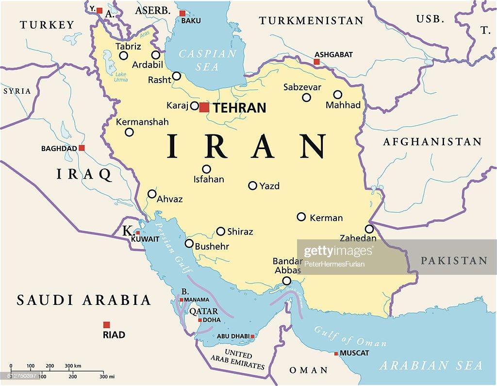 Iran Political Map