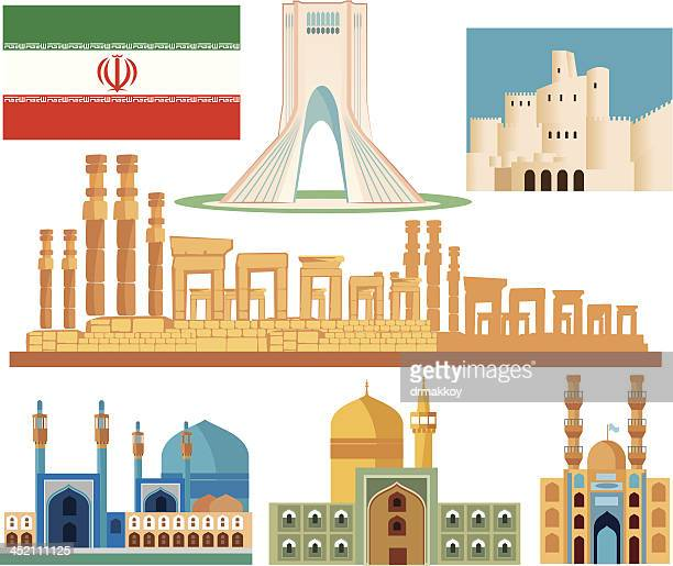 iran symbols - iranian culture stock illustrations, clip art, cartoons, & icons