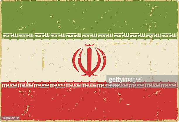 iranian flag - iranian culture stock illustrations, clip art, cartoons, & icons