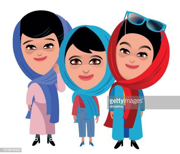 イランの女性 - イラン文化点のイラスト素材/クリップアート素材/マンガ素材/アイコン素材
