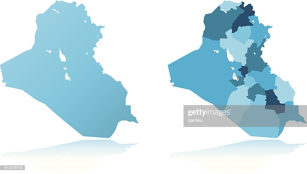 Iraq Detailed Map Vector Art Getty Images