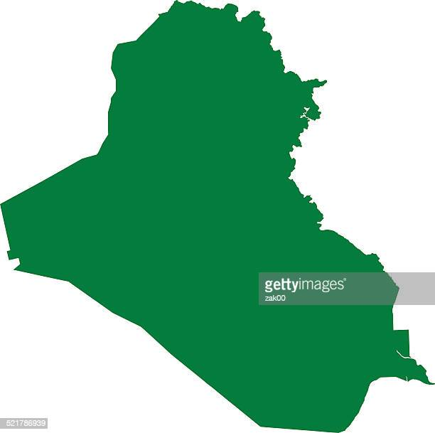 iraq map middle east - iraq stock illustrations