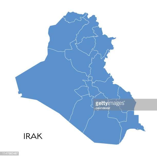 stockillustraties, clipart, cartoons en iconen met kaart irak - irak