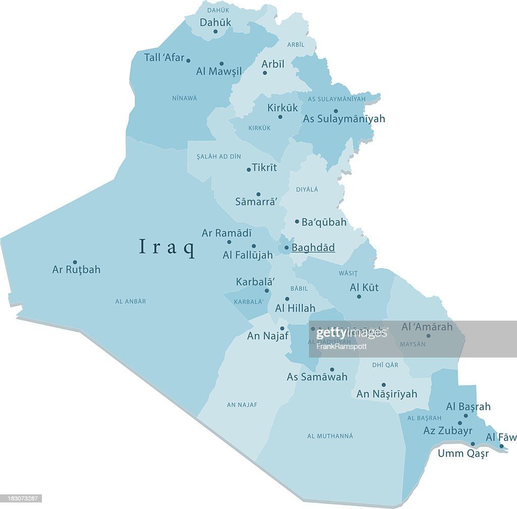 Iraq Vector Map Regions Isolated Vector Art Getty Images