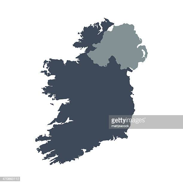 ireland country map - ireland stock illustrations