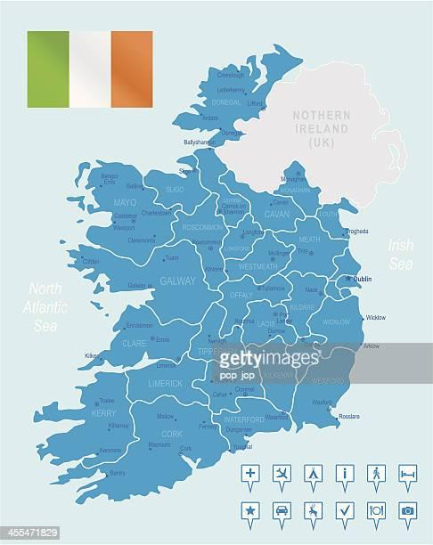 Ireland - highly detailed map