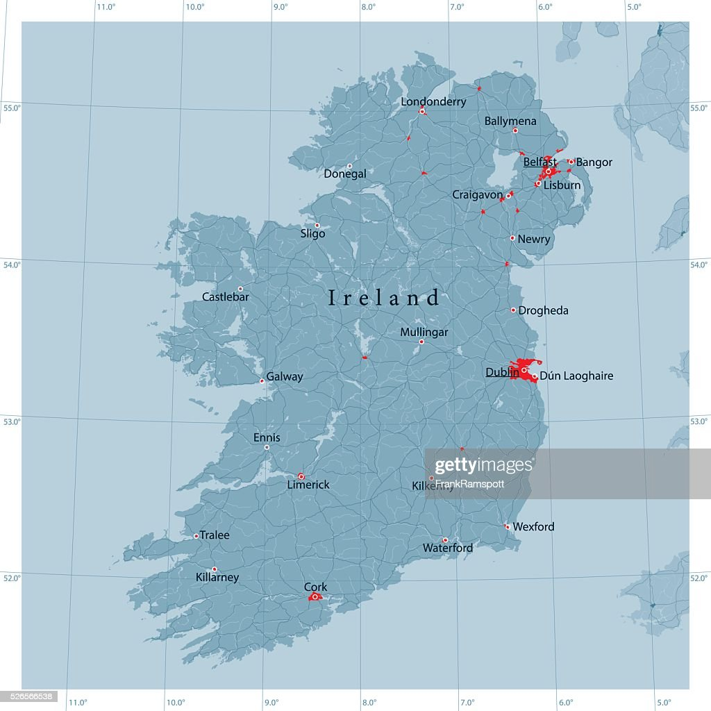 Detailed Map Of Ireland Vector.Ireland Island Vector Road Map Vector Art Getty Images