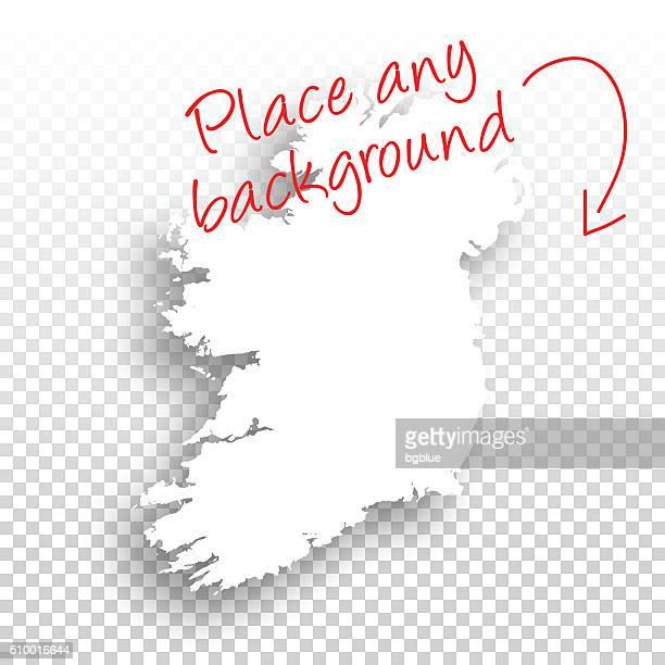 Ireland Map for design - Blank Background