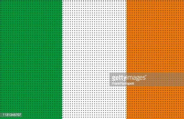 Irland pixelte Vektorflagge