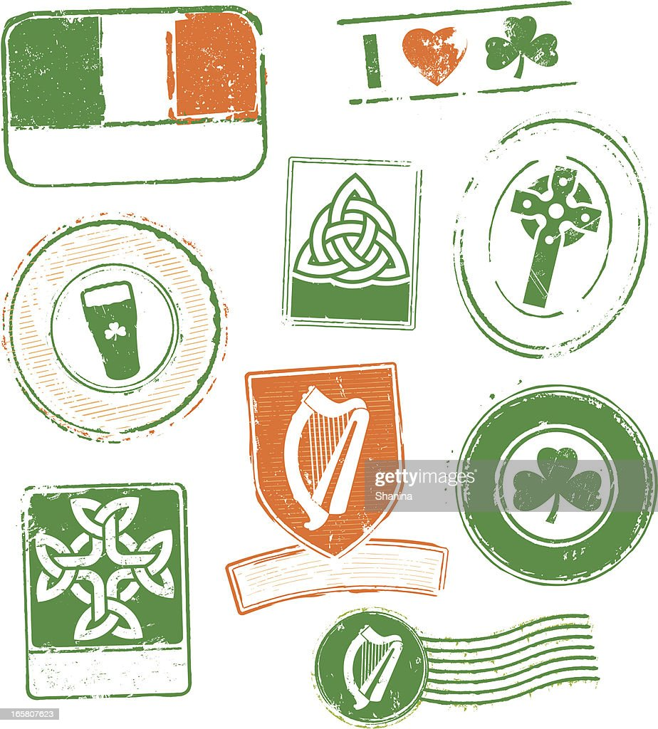 Ireland Rubber Stamps