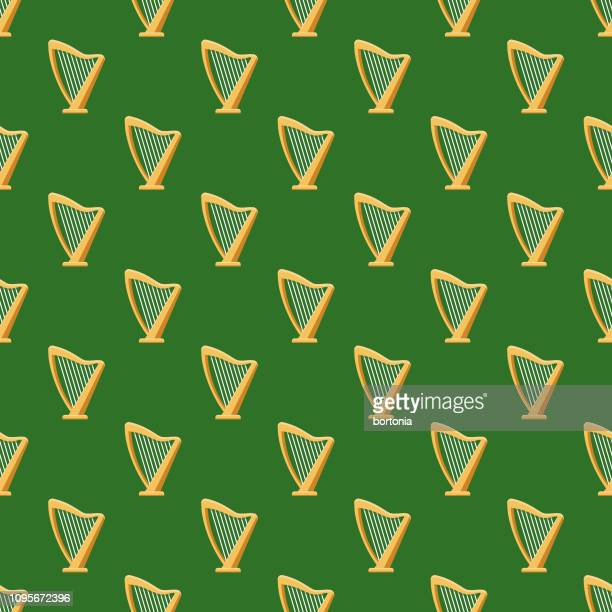 ireland seamless pattern - celtic music stock illustrations, clip art, cartoons, & icons