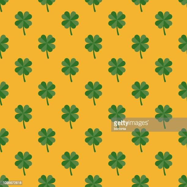 ireland seamless pattern - st patrick's day stock illustrations
